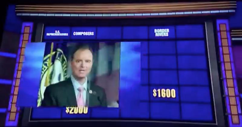 Video: Jeopardy Contestants Can't Name Impeachment Ringleader Adam Schiff