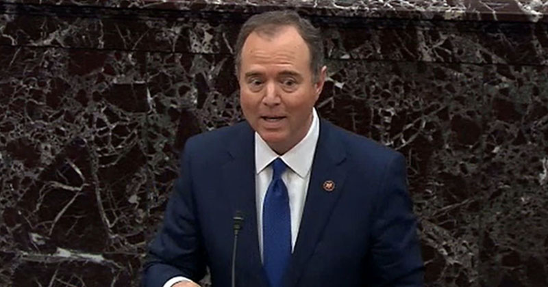 Adam Schiff Lies To Senate About 'Whistleblower' During Impeachment Trial