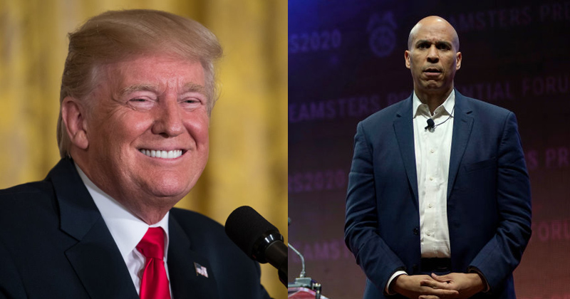 Trump Trolls Cory Booker As He Exits Presidential Race