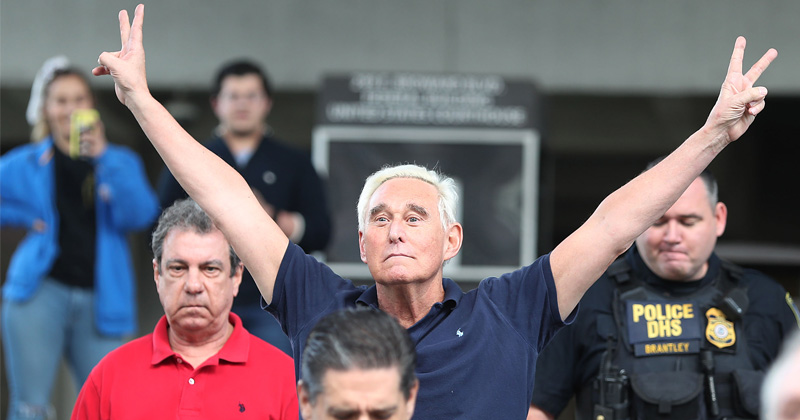 """TWICE AS LONG as Anthony 'sexting a minor' Weiner"": Supporters Slam Harsh Roger Stone Sentence"