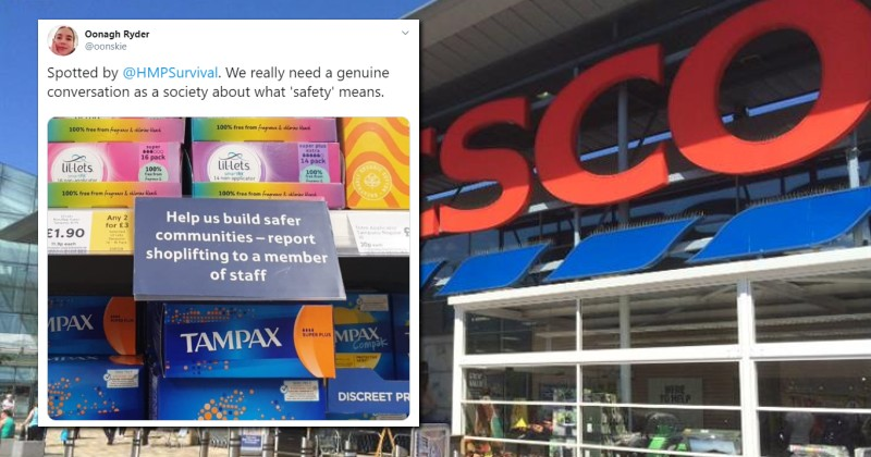 UK Supermarket Forced to Apologize For Asking People Not to Steal Female Menstrual Products