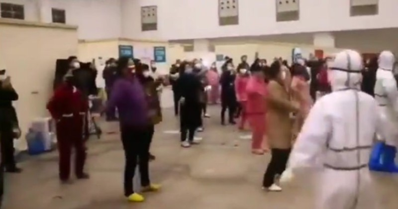 Chinese Propaganda Video Shows Coronavirus Victims in Detainment Facility Dancing