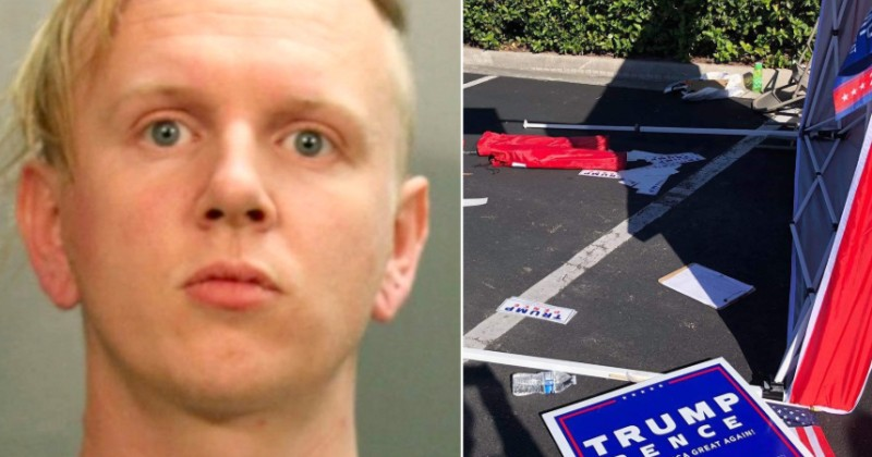 Suspect Who Ploughed Vehicle Through Voter Registration Tent Admitted Anti-Trump Motive