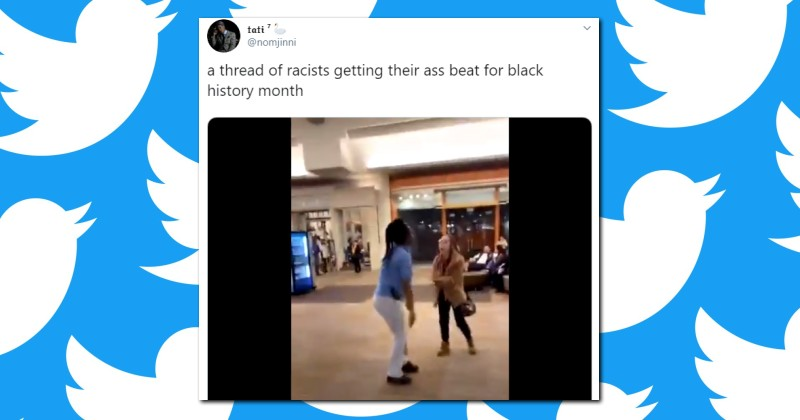 """Twitter Thread of White People """"Getting Their Ass Beat For Black History Month"""" Receives Over 335,000 Likes"""
