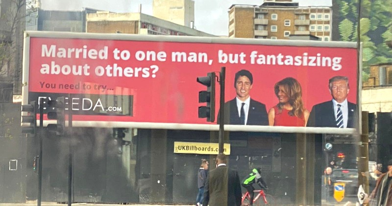 Giant Billboard in London Encourages Women to Cheat on Their Husbands