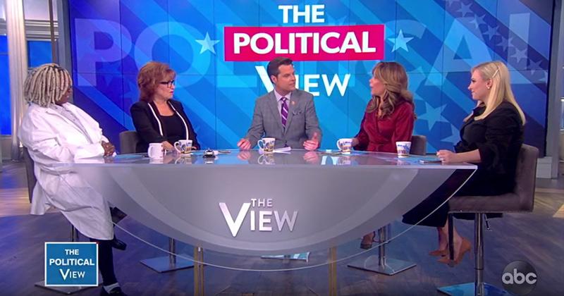 "The View Freaks Out On Matt Gaetz: ""Trump Should Pardon Roger Stone"""