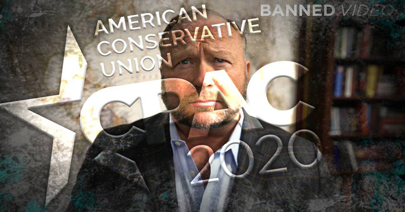 Alex Jones' Message To CPAC 2020