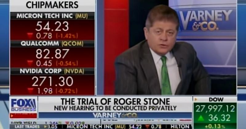 "Napolitano Calls Judge's Gag Order On Roger Stone ""Stalinistic"""