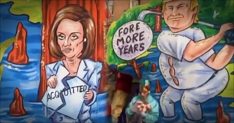 "Video: Hilarious Mardis Gras Float Depicts Pelosi's ""Articles of Impeachment"""