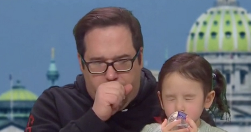 Video: Father Fresh Out Of Coronavirus Quarantine Repeatedly Coughs On Air