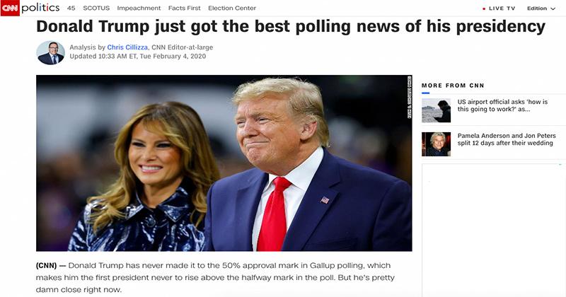 Oops! CNN Admits Impeachment Helping Trump