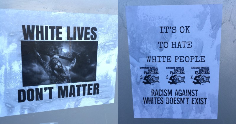 'White Lives Don't Matter' Signs Appear in Canadian City, Media Ignores
