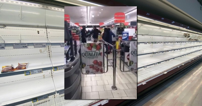 Fight Breaks Out in Italian Supermarket Amidst Food Shortages