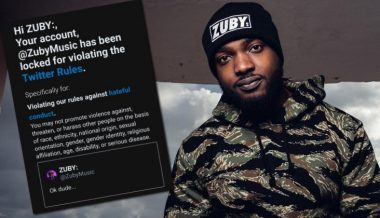 "Rapper Zuby Suspended by Twitter For Tweeting ""Ok Dude"" to a Transgender Activist"