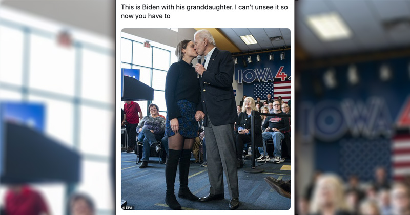 """""""Can't Unsee It"""": Biden Kisses Granddaughter on Lips During Rally"""