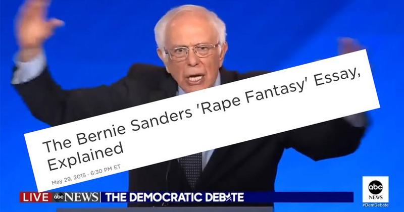 Bernie Sanders' Support of Rape Shocks America