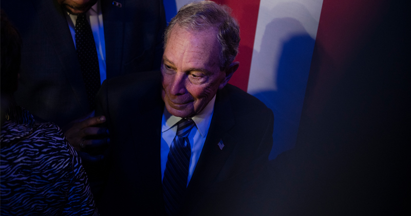 WATCH: Bloomberg Confronted For Being in Epstein's Little Black Book