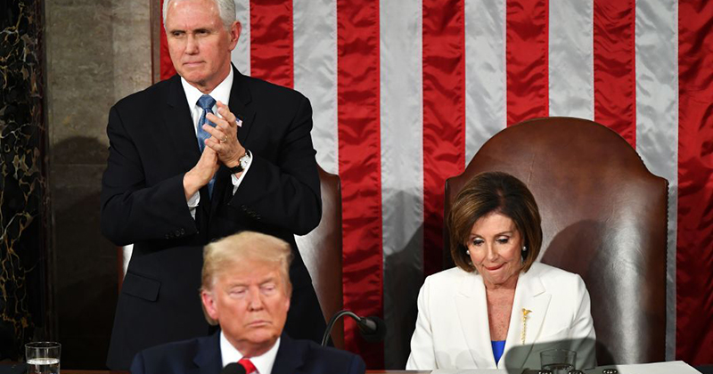 Pelosi Does Not Applaud as Trump Announces Scholarship for 4th Grade Student