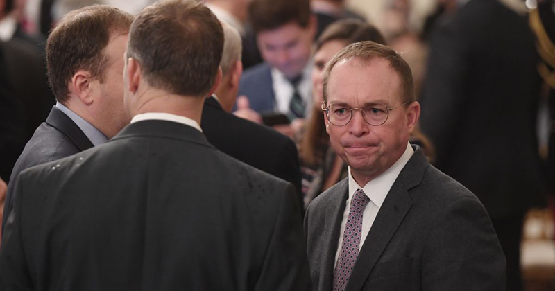 Report: Mick Mulvaney Claims U.S. 'Needs More Immigrants' Because Country 'Running Out of People'