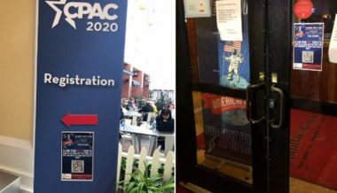 Groypers Troll Turning Point USA At CPAC With Registration Posters