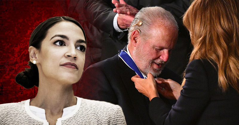 """AOC: """"Virulent Racist"""" Limbaugh Shouldn't Have Received Medal of Freedom"""