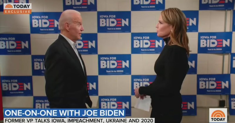 "Watch: Biden Snaps at ""Today"" Anchor Over Hunter Question"