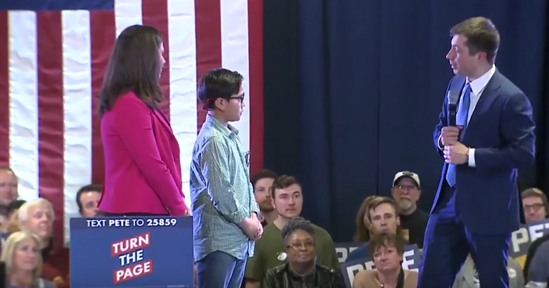 Bizarre: 9-Year-Old Comes Out to Pete Buttigieg During Campaign Rally