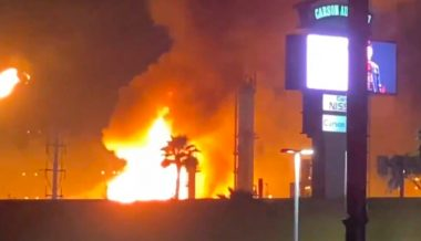 Largest Oil Refinery on West Coast Erupts in Flames
