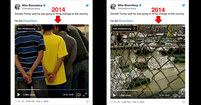 Bloomberg Uses Obama-era Footage of 'Kids in Cages' in Anti-Trump Super Bowl Ad