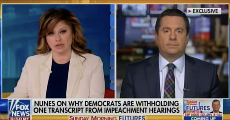 Nunes Blasts Fake News Networks For Lying to American People, Covering For Democrats