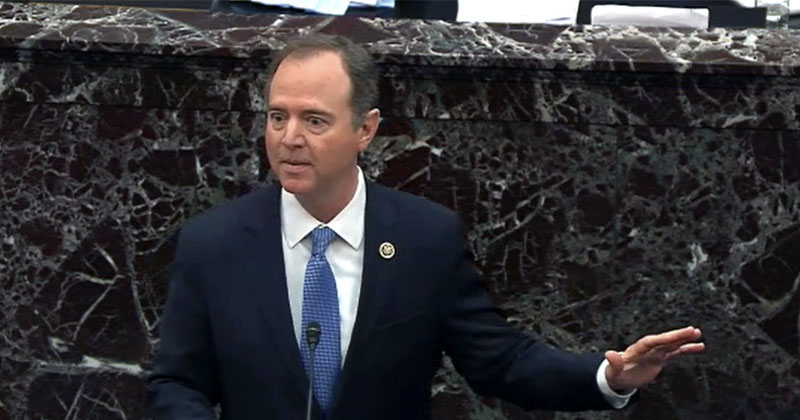 'Trump Could Give Alaska To The Russians': Schiff Descends Into Desperate Rant During Closing Impeachment Remarks