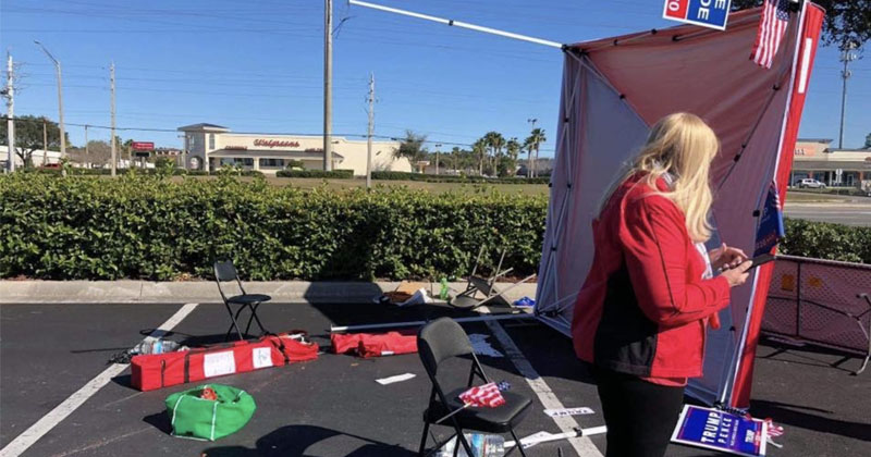 Trump Supporters Attacked After Van Plows Through GOP Voter Registration Tent In Florida; Suspect Arrested