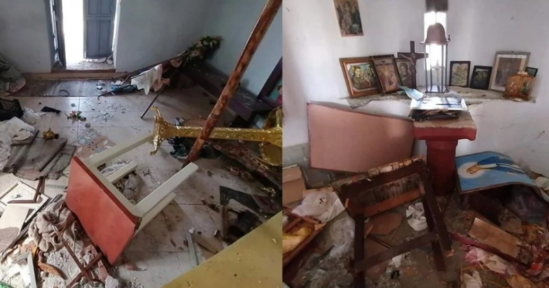 Greek Orthodox Church Trashed by 'Refugees'