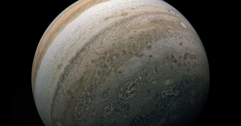 The southern hemisphere of Jupiter