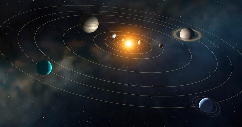 Solar system acquired current configuration not long after its formation, astronomers say