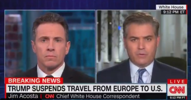 "Jim Acosta Complains of Trump's ""Xenophobia"" For Calling Covid-19 a ""Foreign Virus"""