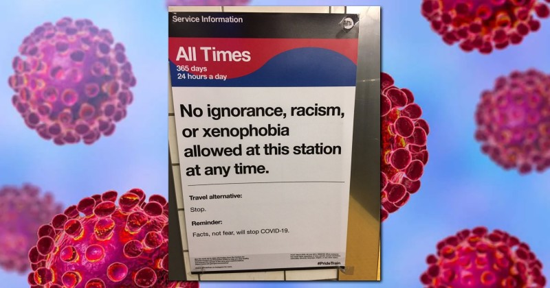Amidst Coronavirus Pandemic, Subway Posters Tell New Yorkers Not to Be Racist