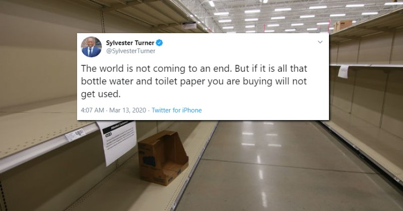 """Houston Mayor Decries Panic Buying: """"The World is Not Coming to an End"""""""