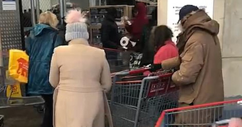 Video: Costco Customers Sprayed With 'DISINFECTANT' At Door
