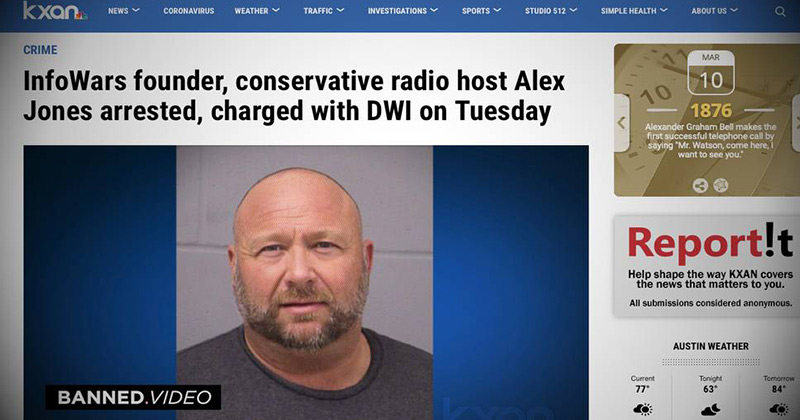 Alex Jones Issues Statement On DWI Arrest
