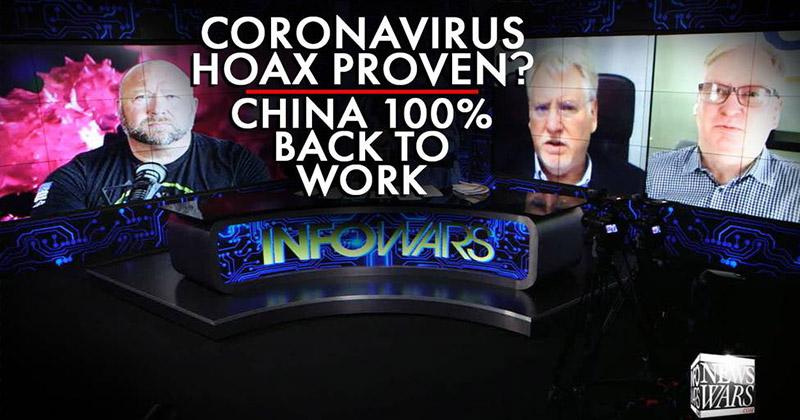 Coronavirus Hoax Proven? China Now 100 Percent Back To Work
