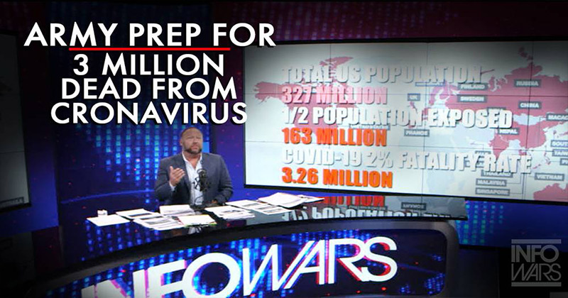 Exclusive! Army Preparing for 3 Million Deaths from Coronavirus