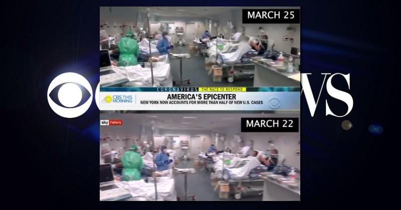 """CBS News Uses Footage of """"Worst Hit"""" Hospital in Italy While Describing New York Coronavirus Outbreak"""