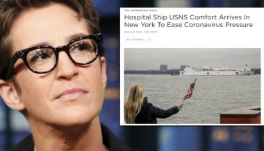 "Maddow Claimed It Was ""Nonsense"" A Naval Hospital Ship Would Dock in New York by Next Week; It's Arrived"