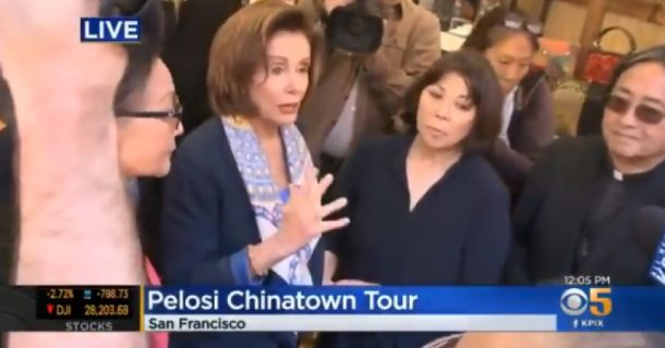 In Late February, Nancy Pelosi Encouraged Large Groups to Congregate in Chinatown