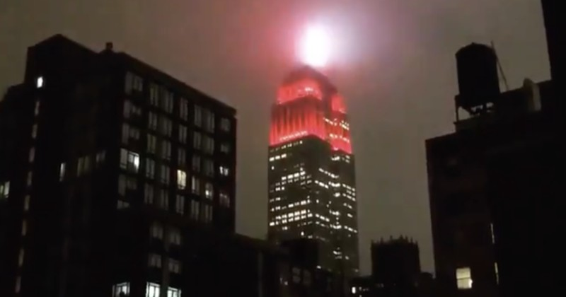 Empire State Building Debuts Dystopian Red 'Siren' Light