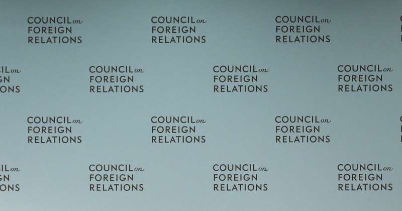 Council on Foreign Relations Cancels Coronavirus Conference - Because of Coronavirus