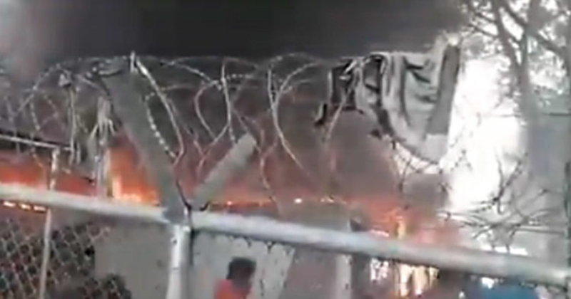 VIDEO: Fire Erupts at Greek Migrant Camp, One Fatality Reported