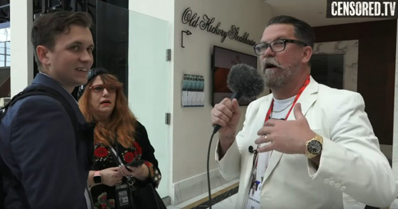 VIDEO: Visibly Uncomfortable Jared Holt Runs Away From Gavin McInnes at CPAC