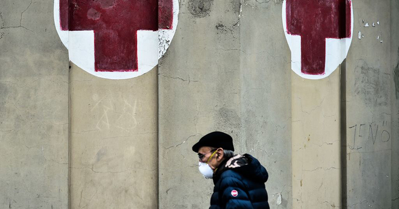 Italy's massive coronavirus quarantine provokes panic; stock markets tank 11%